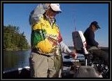 AL hooks up a nice bass on the Rat-L-Trap lure and his Carrot Stix Wild Orange Baitcaster rod.