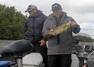 "Dennis ""the LUNKER guy"" caught some lunker large and smallmouth bass on this trip... he lived upo to HIS reputation!."