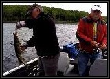 Dennis hooks up a Northern Pike!!